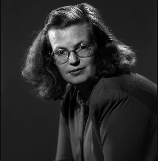"""USA. New York City. 1940s. Shirley JACKSON, author of """"The Lottery"""".Contact email:New York : photography@magnumphotos.comParis : magnum@magnumphotos.frLondon : magnum@magnumphotos.co.ukTokyo : tokyo@magnumphotos.co.jpContact phones:New York : +1 212 929 6000Paris: + 33 1 53 42 50 00London: + 44 20 7490 1771Tokyo: + 81 3 3219 0771Image URL:http://www.magnumphotos.com/Archive/C.aspx?VP3=ViewBox_VPage&IID=2K7O3RB9TZD5&CT=Image&IT=ZoomImage01_VForm"""